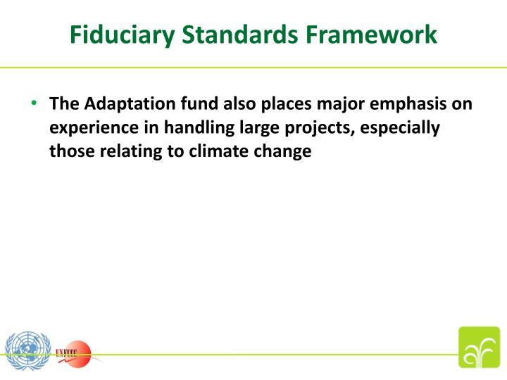 Fiduciary Standards Framework