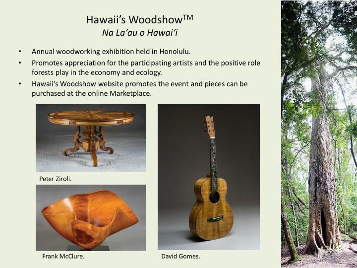 Hawaii's Woodshow