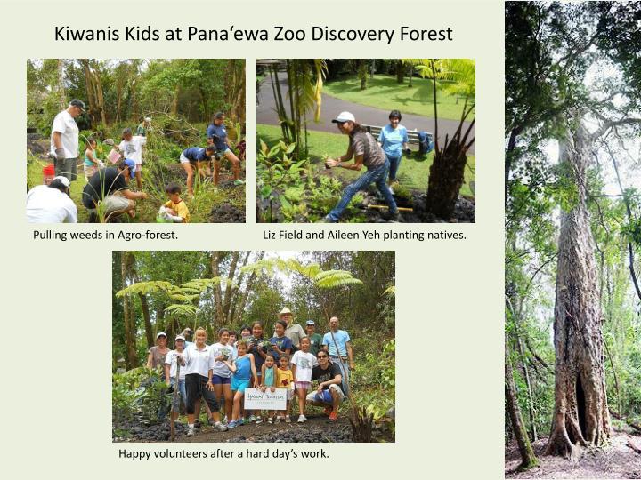 Kiwanis Kids at Pana'ewa Zoo Discovery Forest