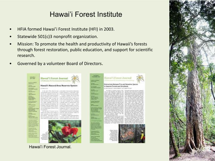 Hawai'i Forest Institute