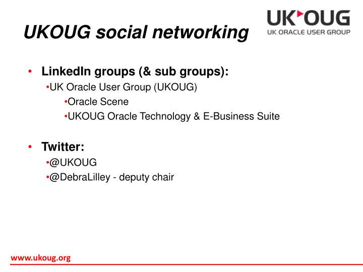 UKOUG social networking