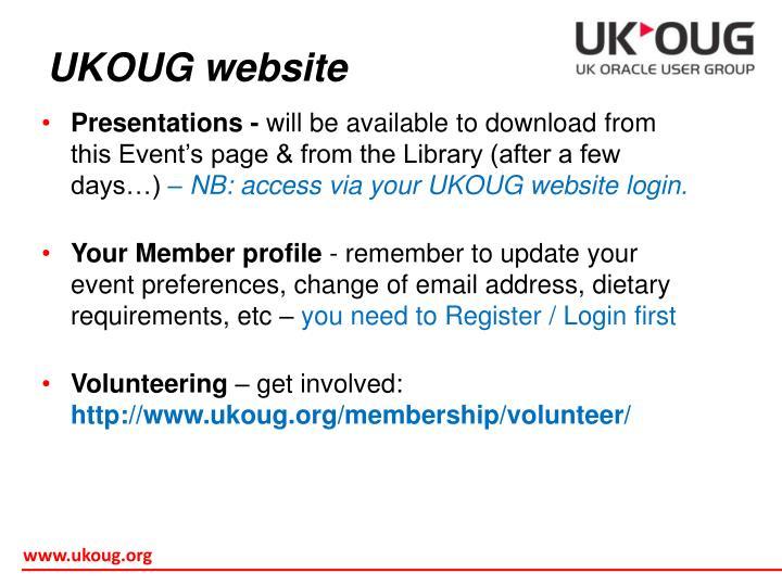 UKOUG website