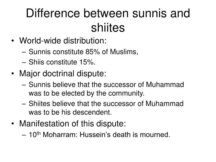 comparison between the sunnis and shiites essay
