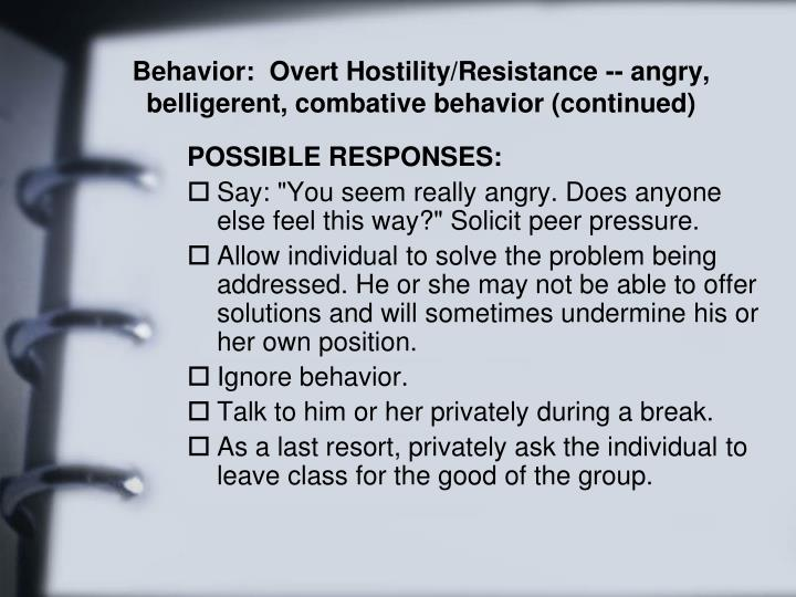 Behavior: