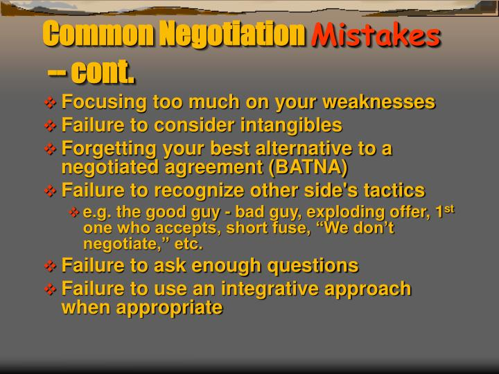 Common Negotiation