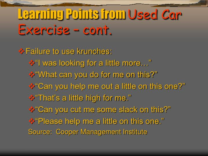 Learning Points from