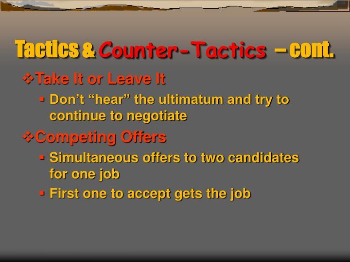 Tactics &