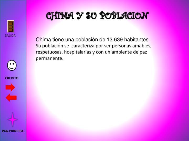 CHIMA Y SU POBLACION
