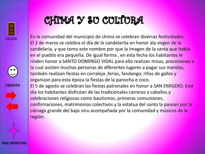 CHIMA Y SU CULTURA