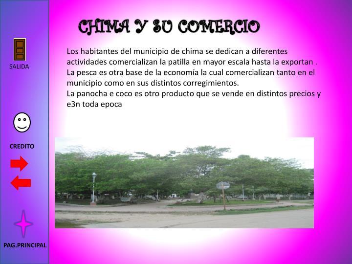 CHIMA Y SU COMERCIO