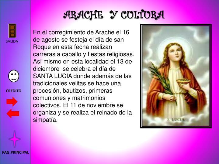 ARACHE  Y CULTURA