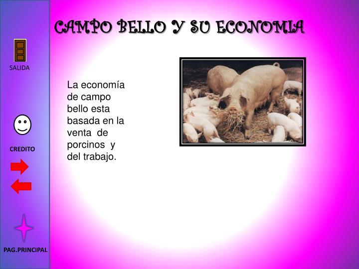 CAMPO BELLO Y SU ECONOMIA