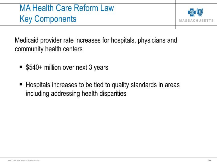 MA Health Care Reform Law