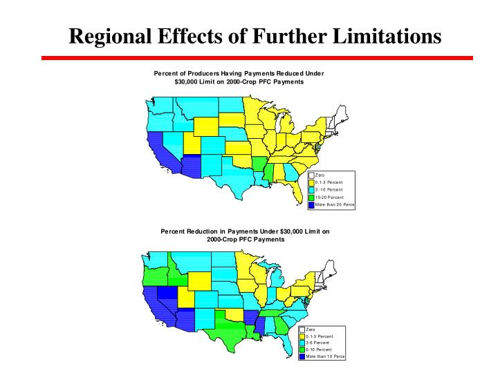 Regional Effects of Further Limitations