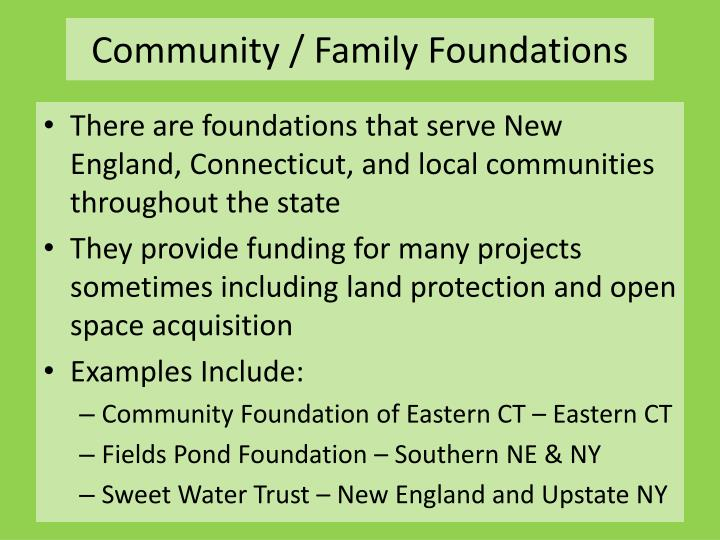 Community / Family Foundations