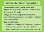 community family foundations
