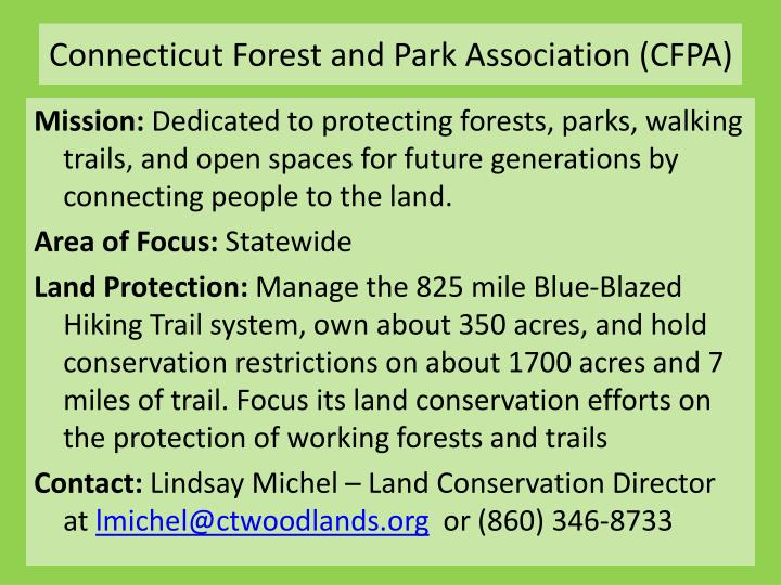 Connecticut Forest and Park Association (CFPA)