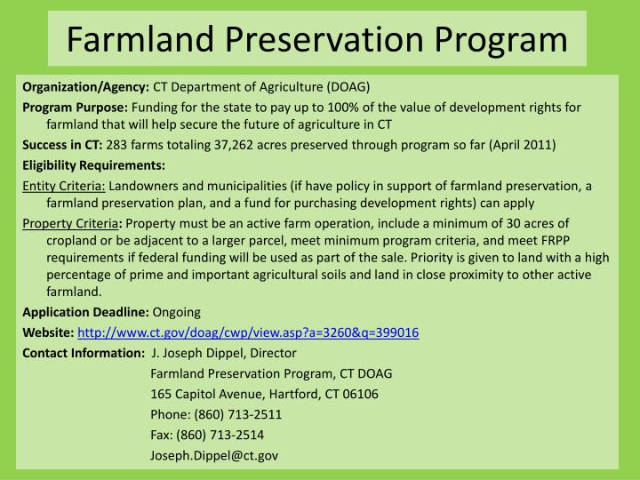 Farmland Preservation Program