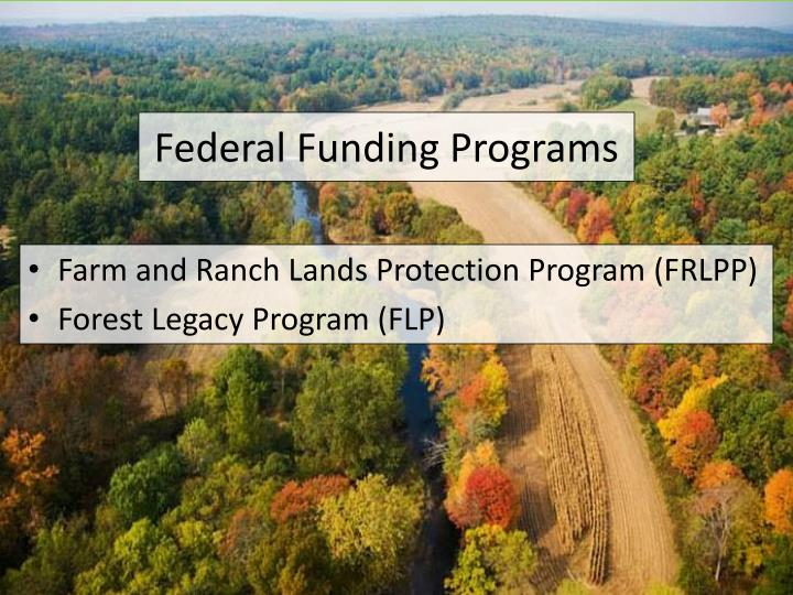 Federal Funding Programs