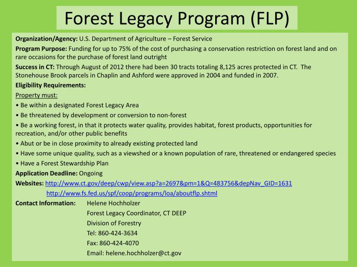 Forest Legacy Program (FLP)