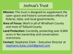 joshua s trust