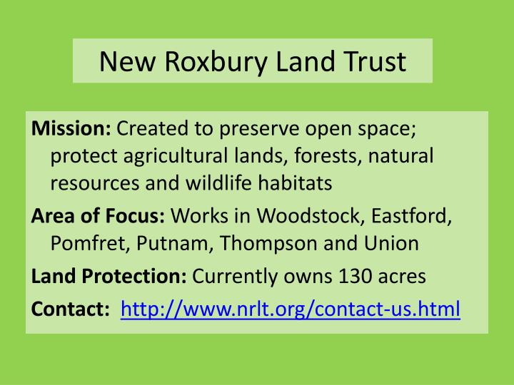 New Roxbury Land Trust