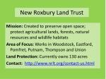 new roxbury land trust