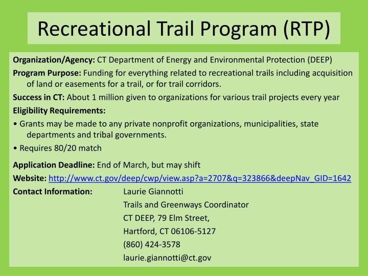 Recreational Trail Program (RTP)