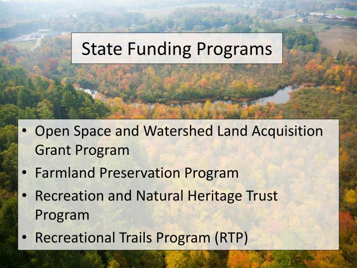 State Funding Programs