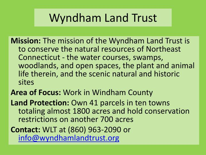 Wyndham Land Trust