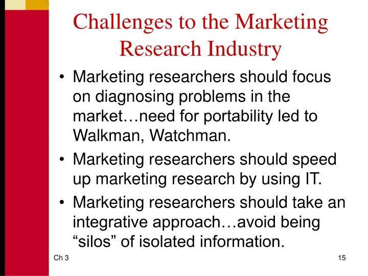 Challenges to the Marketing Research Industry