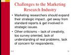 challenges to the marketing research industry1