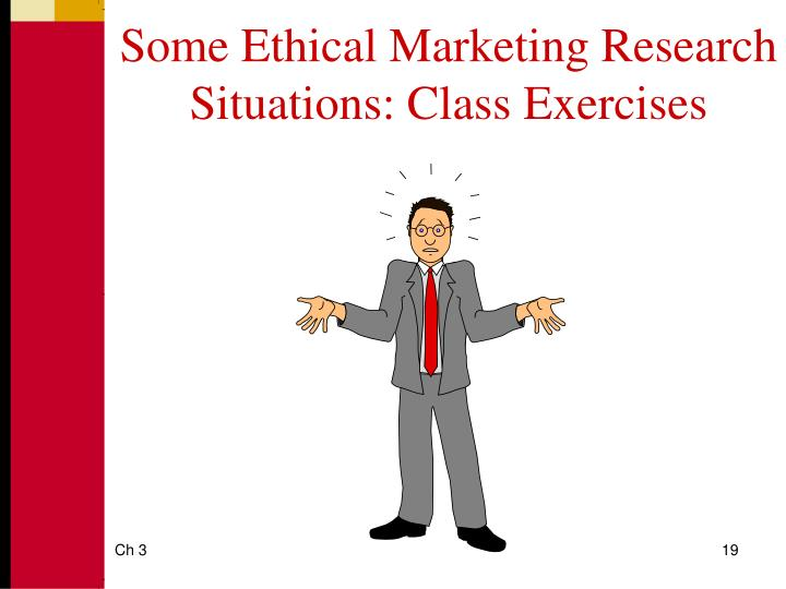 Some Ethical Marketing Research Situations: Class Exercises