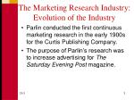 the marketing research industry evolution of the industry1