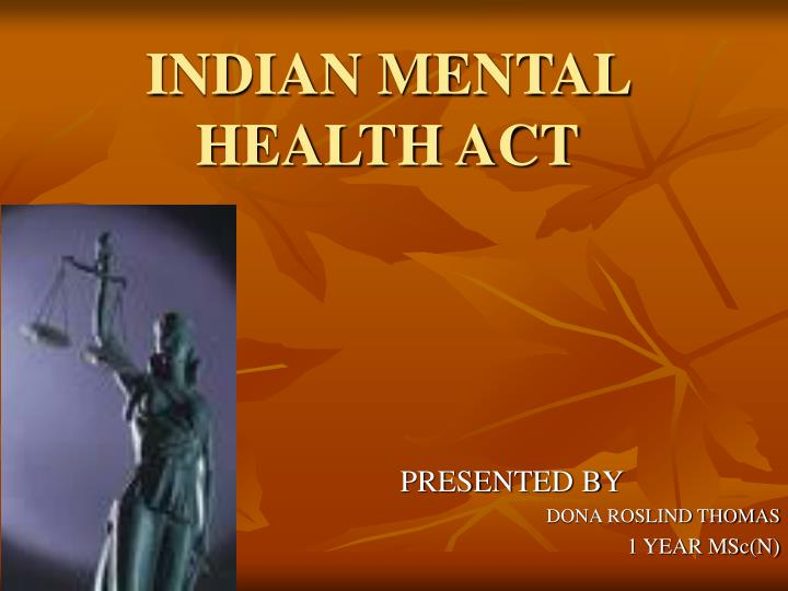 Indian mental health act