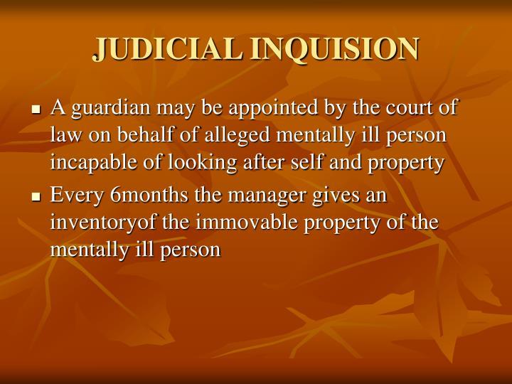 JUDICIAL INQUISION