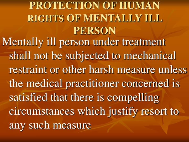PROTECTION OF HUMAN