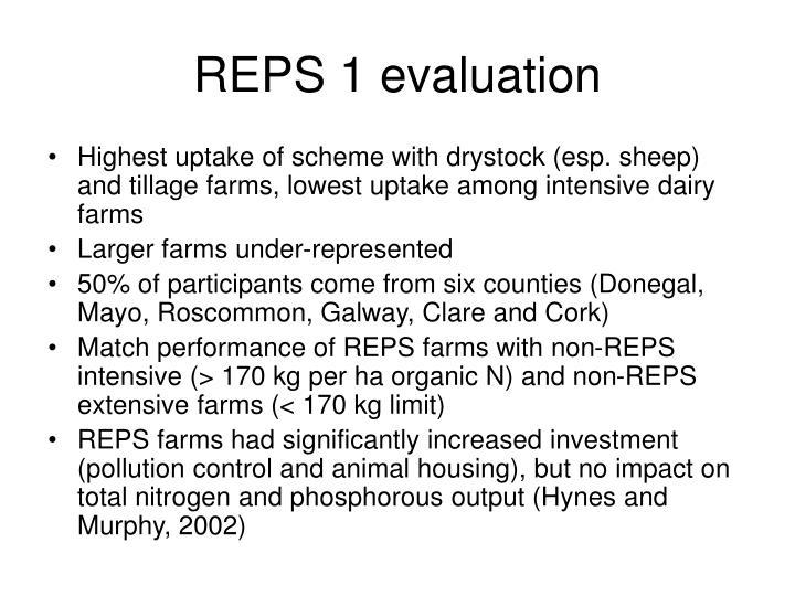 REPS 1 evaluation