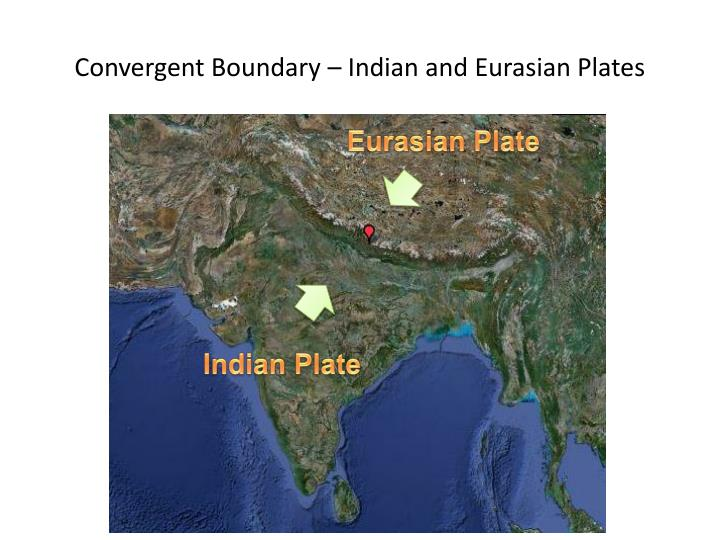 Convergent Boundary – Indian and Eurasian Plates