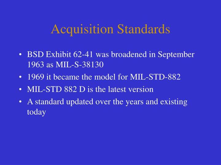 Acquisition Standards