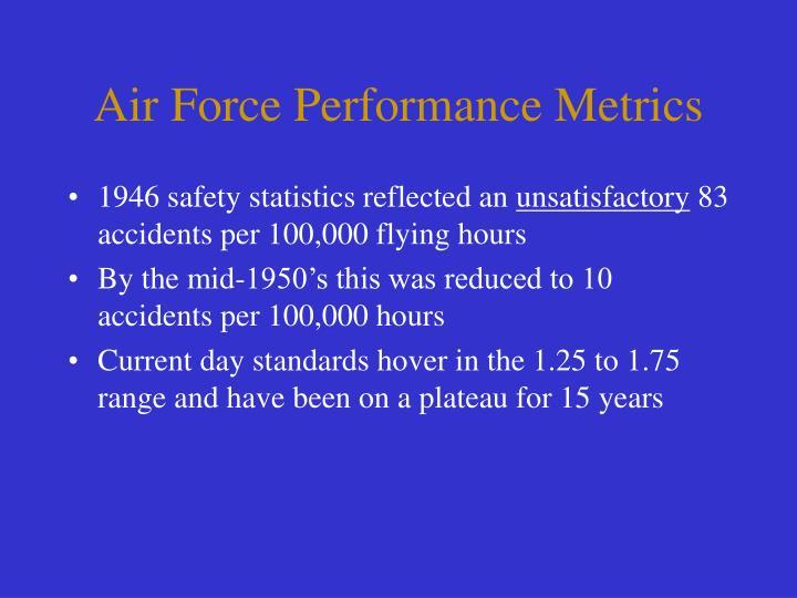 Air Force Performance Metrics