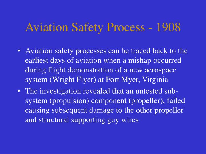 Aviation Safety Process - 1908