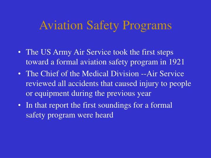 Aviation Safety Programs