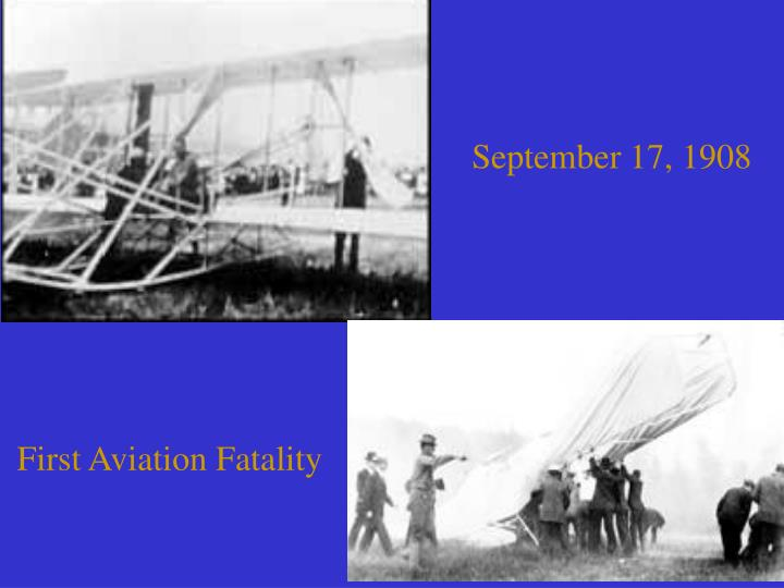 First Aviation Fatality