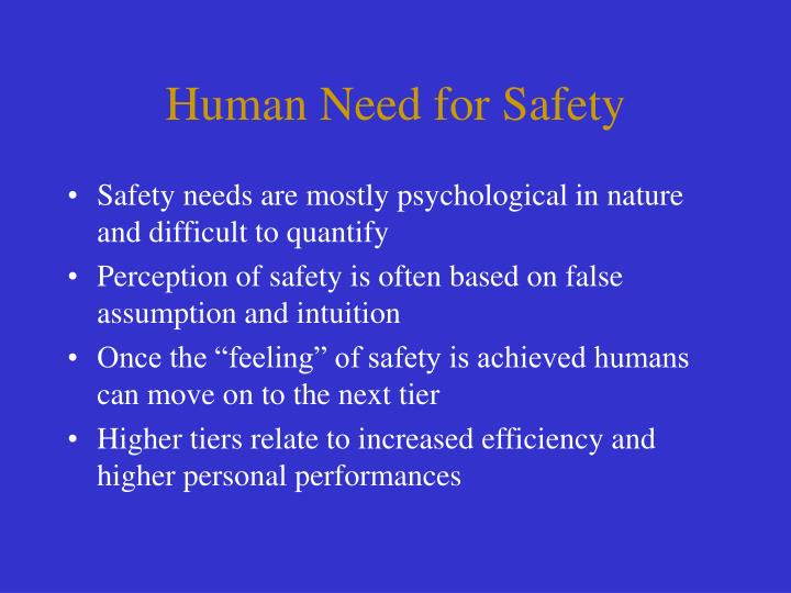 Human Need for Safety