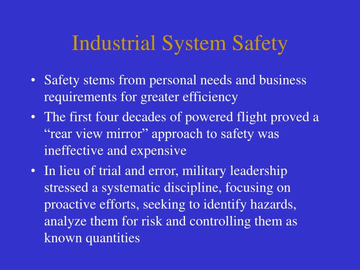 Industrial System Safety
