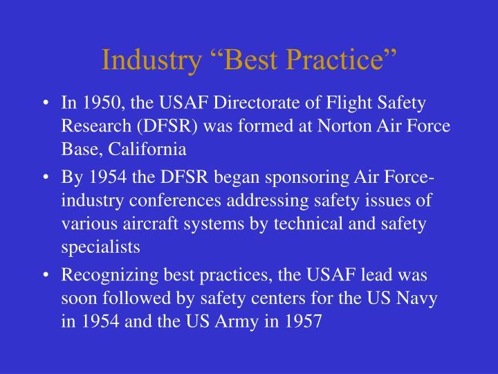 """Industry """"Best Practice"""""""