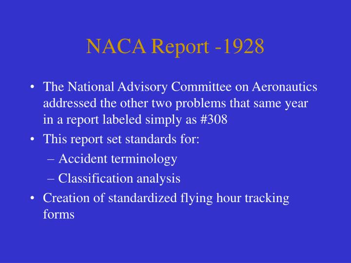 NACA Report -1928