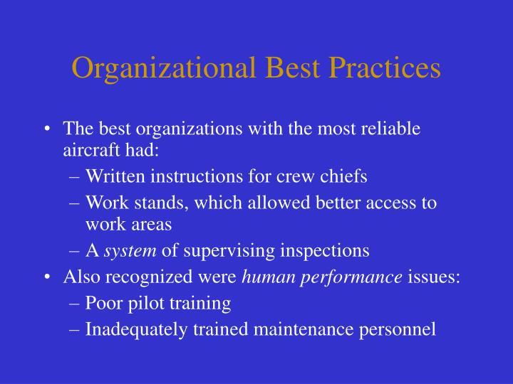 Organizational Best Practices