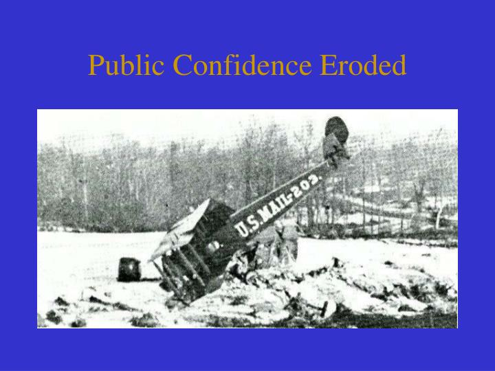 Public Confidence Eroded